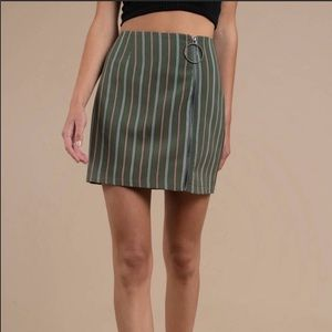 The Fifth Label Green Striped Mini Skirt